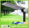 small motion sensor all in one 30w integrated solar powered street light led