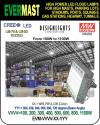 LED WAREHOUSE LIGHT, 100W TO 1100W, DLC, EVERMAST  Manufacturer
