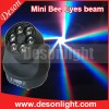 6pcs 15W Rgbw 4in1 Mini Bee Eye LED Moving Head Beam Light Lm-0615