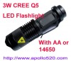 3W  LED Flashlight  Manufacturer