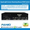 Quad-Split Screen Roaming Mouse KVM Switch Manufacturer