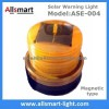 4LED Amber Yellow Color Solar Powered Magnetic Fla Manufacturer
