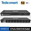 New 8 Port  HDMI  KVM  Switch  IR Remote Over IP K Manufacturer