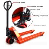2500kg Adjustable Ride On Pallet Jack with 3 Wheel Manufacturer