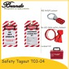 Safety Lockout Tagout PVC Padlock Label Safety Tag Manufacturer