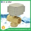 3 Way T type 3/4'' Electric Actuator Valve