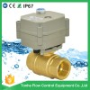 Brass mateiral electric ball auto shut off valve motor operated for drinking water, cooled water, hot water
