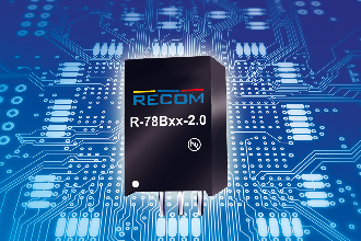 2A switching regulator can reach efficiencies up to 96%