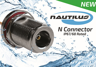 Coaxial connectors are IP67 and IP68 rated