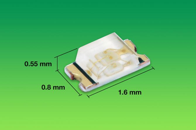 True green LEDs come in compact surface mount package