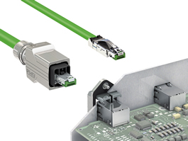 RJ45 connectors offer 360° shielding
