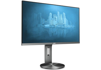 Business monitor has ergonomic options and reduced flicker