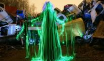 Janne Parviainen Creates Spooky Images with LEDs