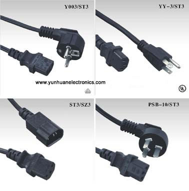 Computer Connection Power Cord CCC VDE UL ST3, SZ3, Computer Power ...