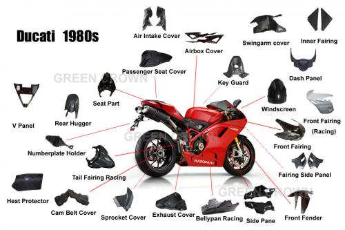 Carbon Fiber Motorcycle Parts For Ducati 848 1098s 1098r 1198 1198s