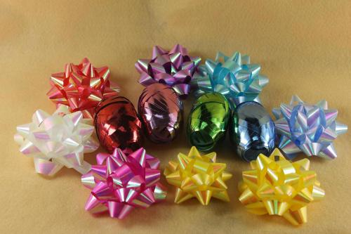 Ribbon Gift Wrapping Set Decorative Star Ribbon Flower On En