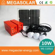 10W Portable  Solar  Powered System With  Lights   Manufacturer