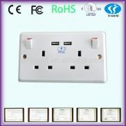 British 250V  Electric  Wall  Switch  Socket Manufacturer