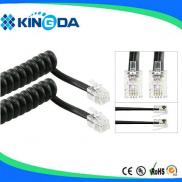 RJ9 RJ11 Coiled  Telephone Cord  Good With Best Pr Manufacturer