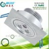 LED Ceiling Light (3X1W)recessed Square LED Downlight