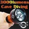 Tonelife TL2300 Output 3000lm  LED  Diving  Light  Manufacturer