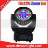 High Powerful 19X12W 4in1 LED Rgbw Beam Moving Hea Manufacturer