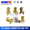 Straight Right Angle SMA Jack  Connector  PCB Plug Manufacturer