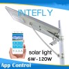 8meters Pole Stand Intelligent Mobile Control Solar LED Street Light 60W