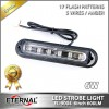 6W Signal Lamp Truck Trailer Offroad Amber LED Strobe Emergency Light Industry Equipment Agriculture LED Warning Light