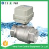 DN50 2 inch motorized ball valve DC12/24V control SS304 BSP/NPT threaded stainless steel